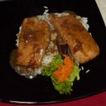 Lachs auf Reis